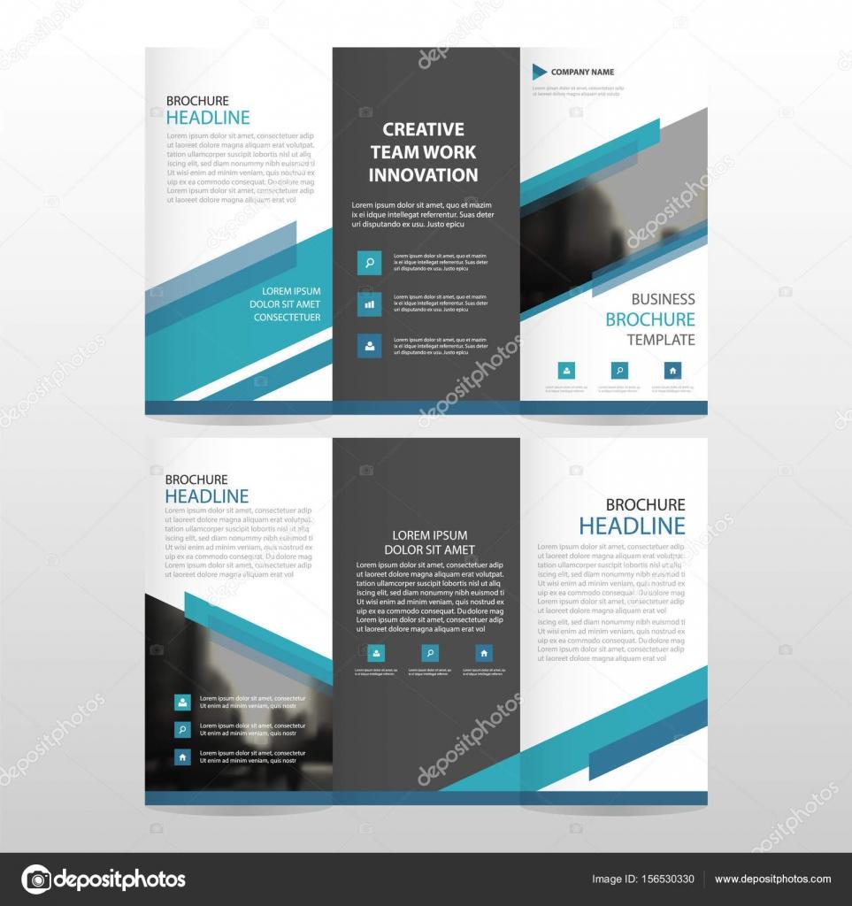 Triángulo azul negocio triple folleto folleto folleto Informe ...
