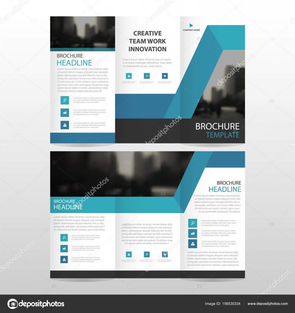 Negocio abstracto azul triple folleto folleto folleto Informe ...