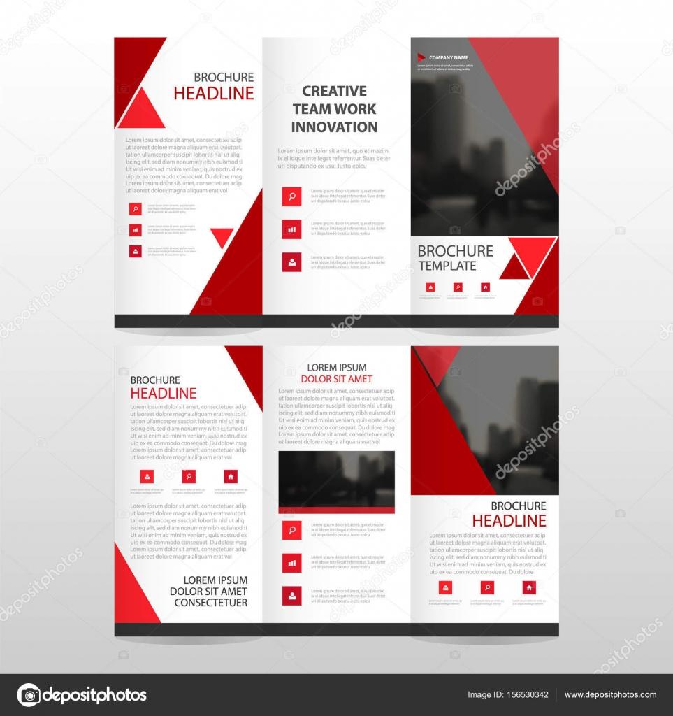 Triángulo rojo negocio triple folleto folleto folleto Informe ...