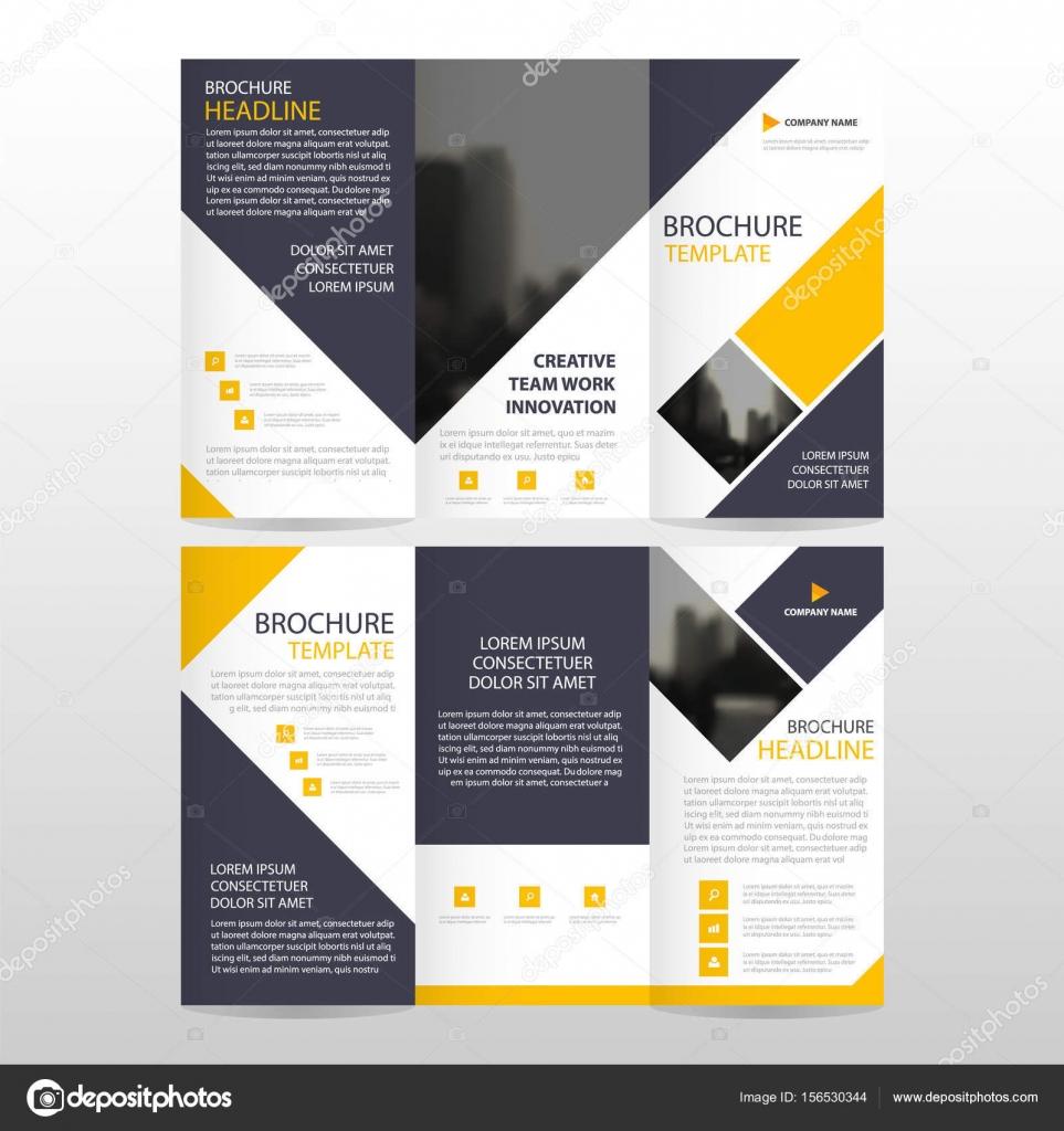 Triple negocio cuadrado amarillo folleto folleto folleto Informe ...