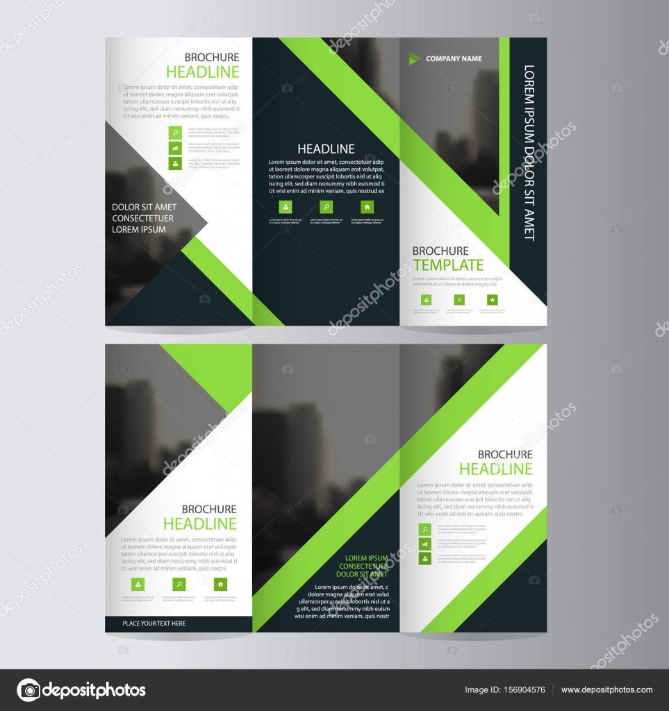Triángulo verde negocio triple folleto folleto folleto Informe ...