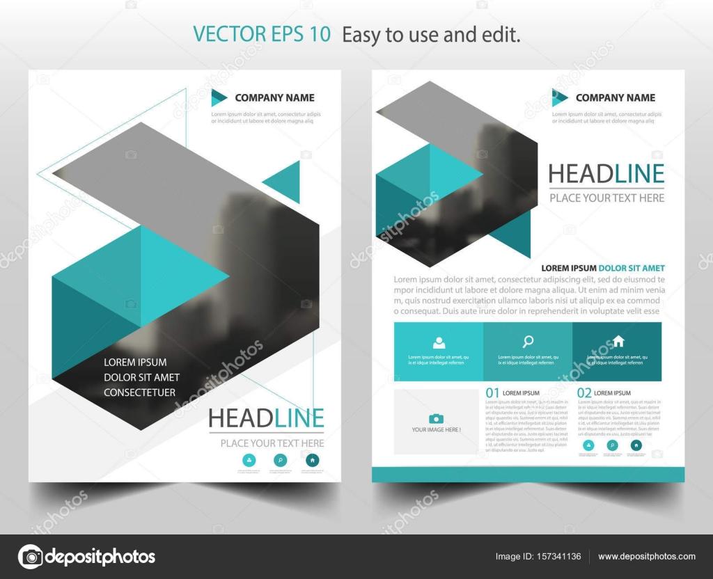 Vector de plantilla del diseño triángulo azul Resumen de informe ...