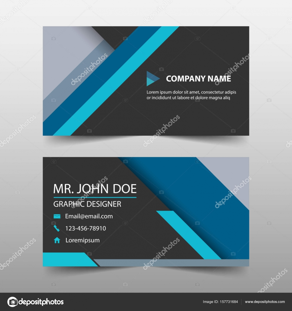 Blue corporate business card name card template horizontal simple blue corporate business card name card template horizontal simple clean layout design template business banner template for website vector by wajeb Choice Image