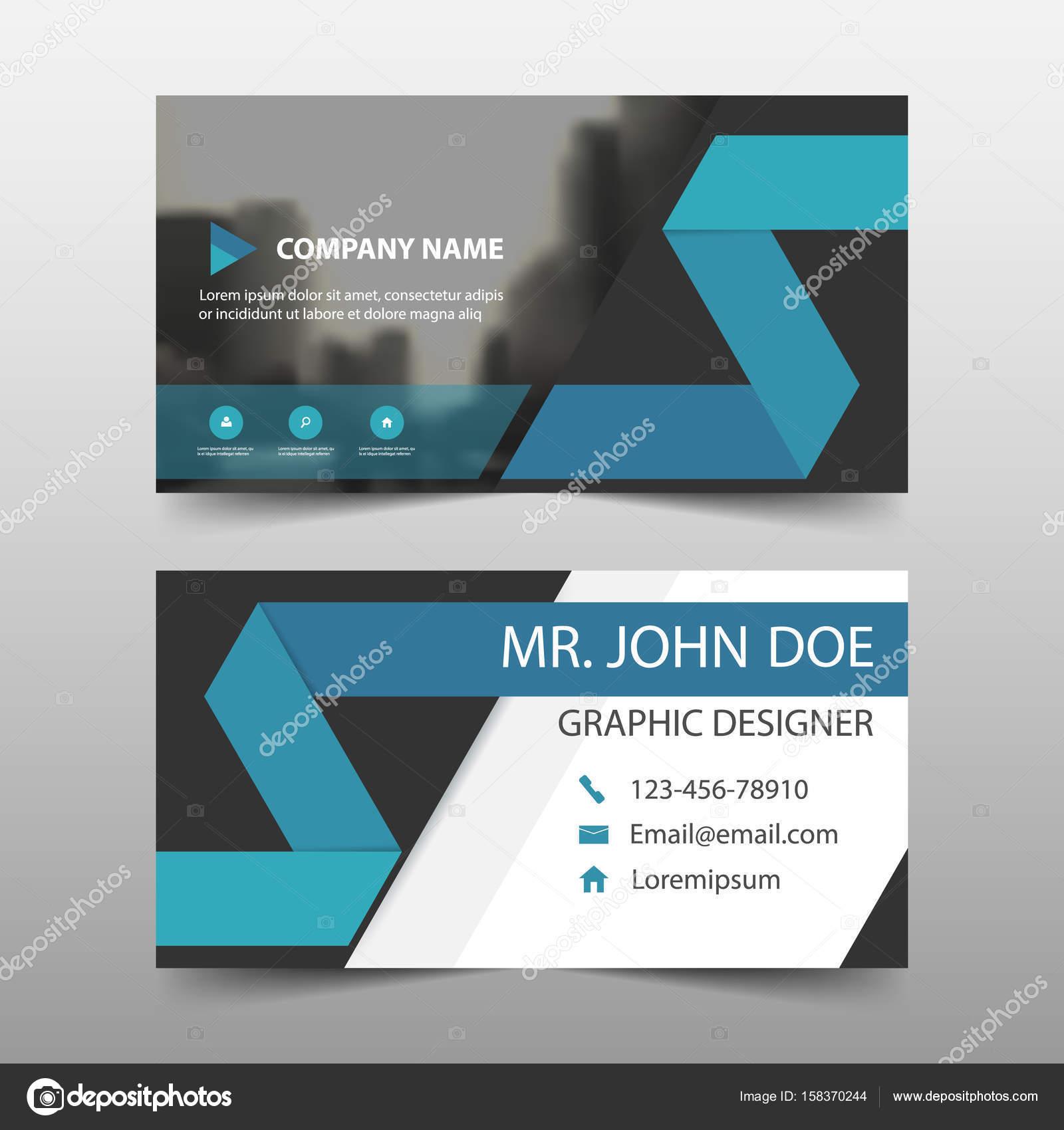 Carte De Visite Entreprise Bleu Modle Du Nom Conception Horizontale Simple Disposition Propre Business Bannire Pour Site