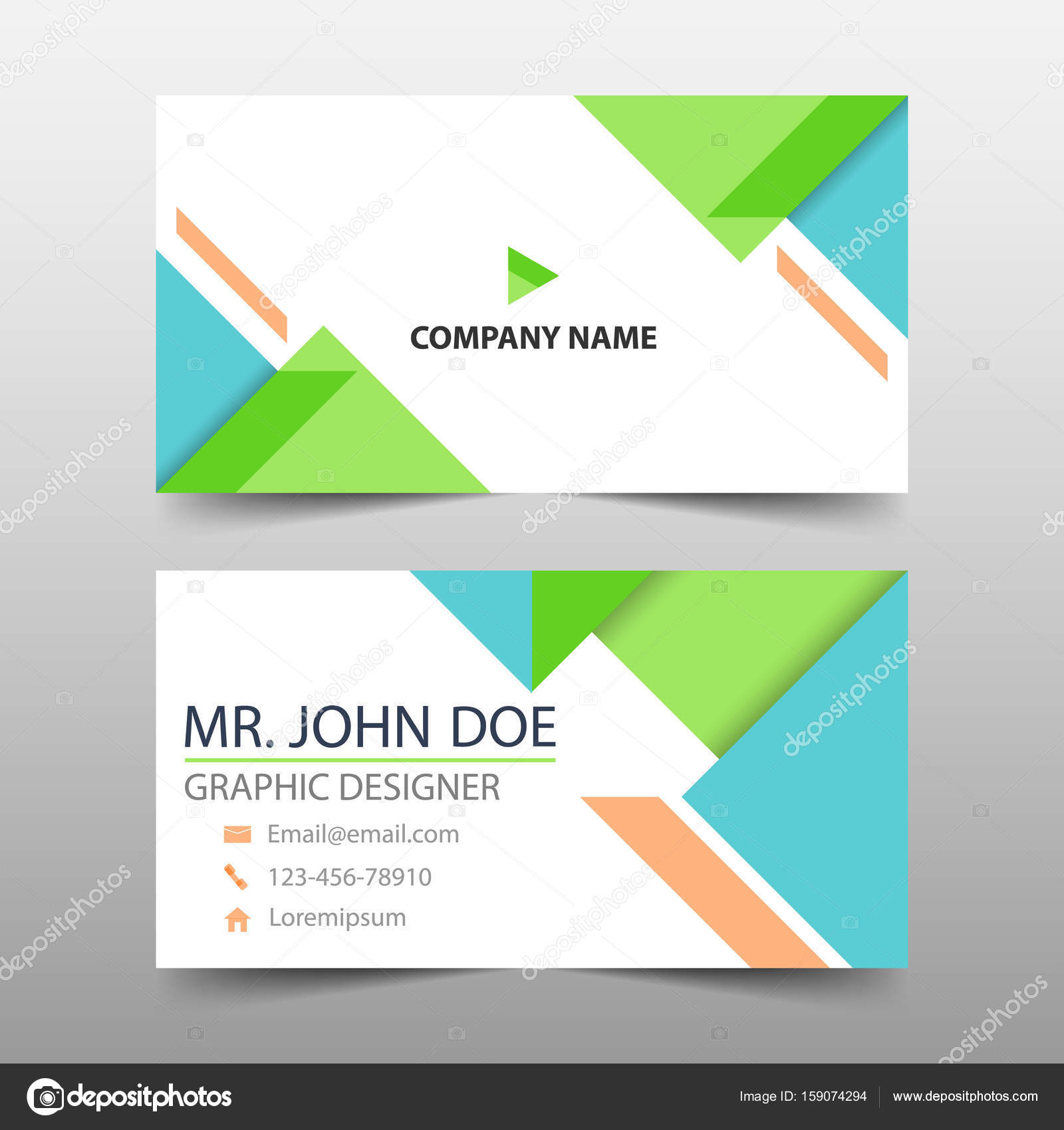 Green corporate business card name card template horizontal simple green corporate business card name card template horizontal simple clean layout design template accmission Image collections