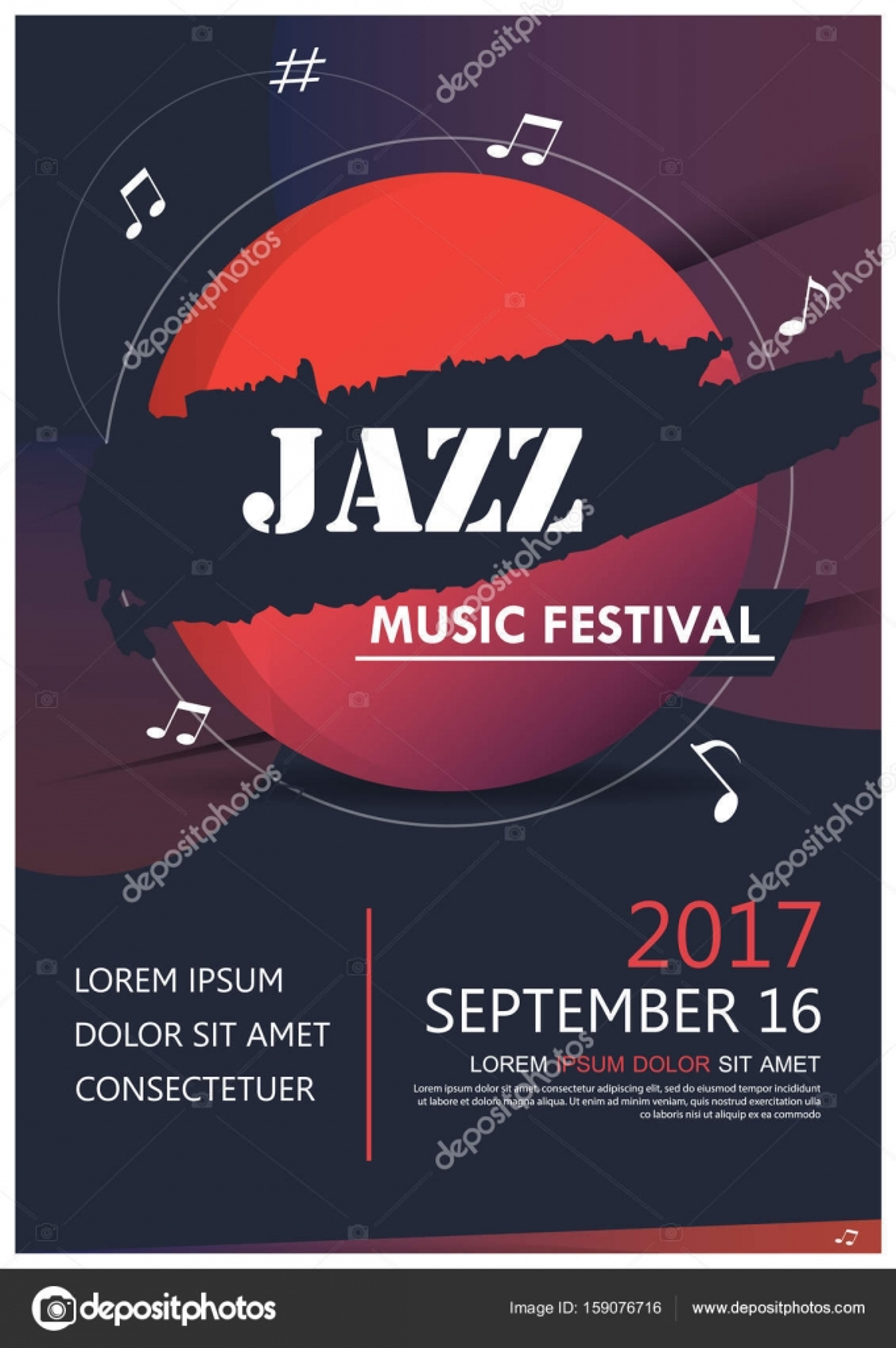 muziek partij jazzband poster. jazz club leuke muziek. muzikaal