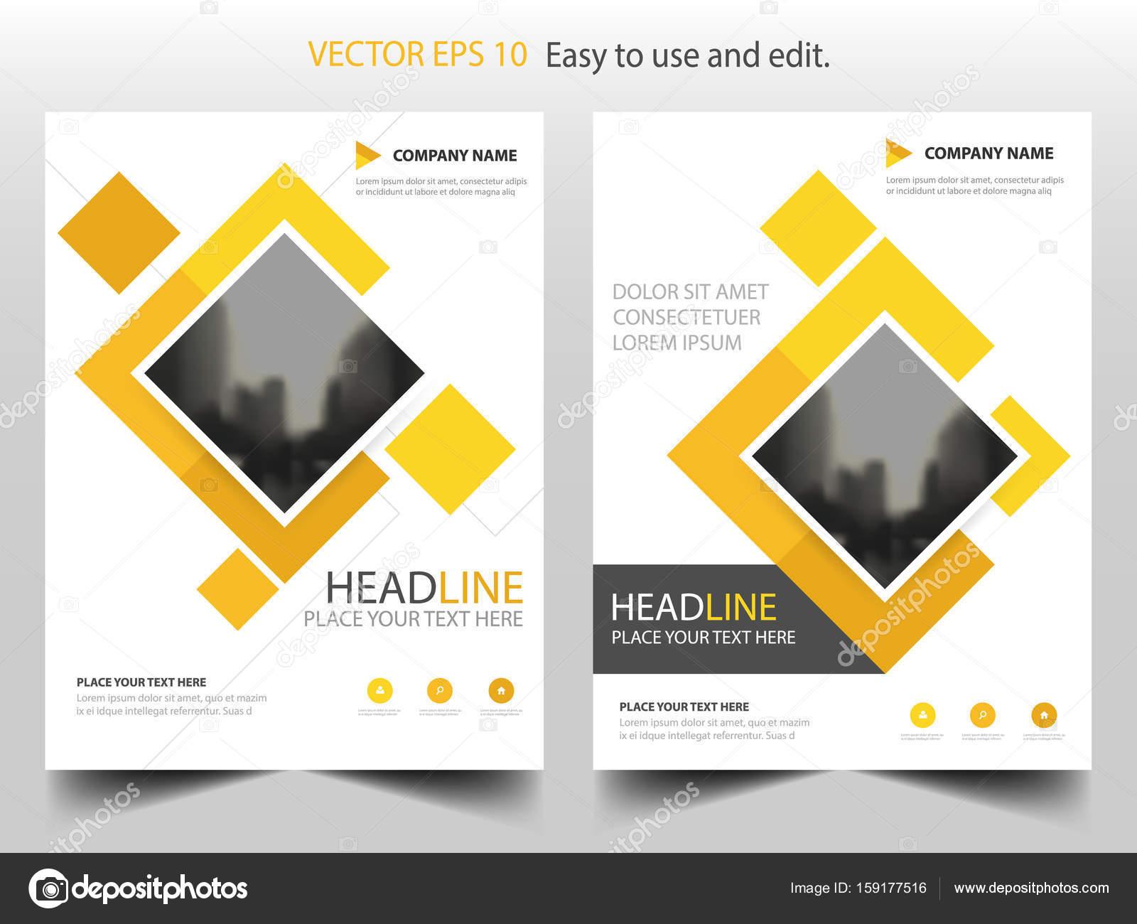 Gelbes Quadrat Business Broschüre Broschüre Flyer jährlichen Bericht ...