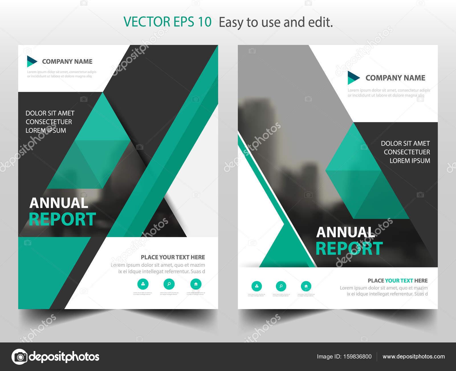 Grünes Dreieck Vektor Broschüre jährlichen Bericht Broschüre Flyer ...
