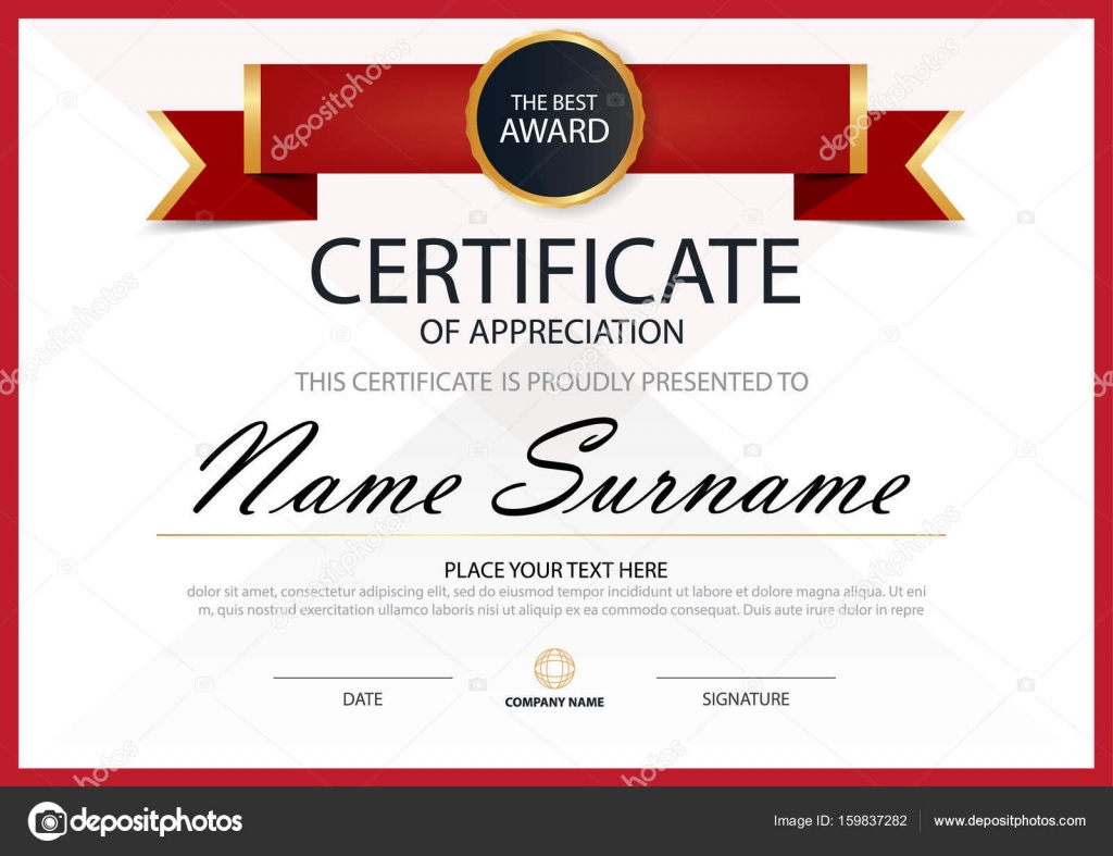 Red elegance horizontal certificate with vector illustration white red elegance horizontal certificate with vector illustration white frame certificate template with clean and modern yadclub Image collections