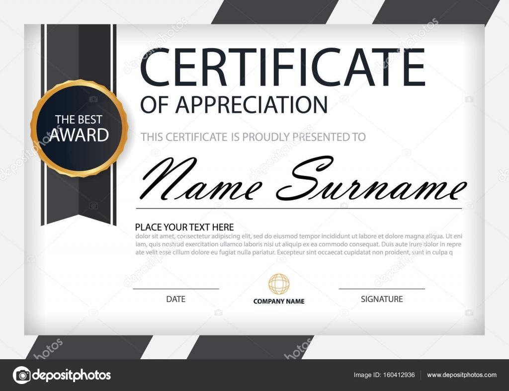 Schwarz weiße Eleganz horizontale Zertifikat mit Vektor Illustration ...