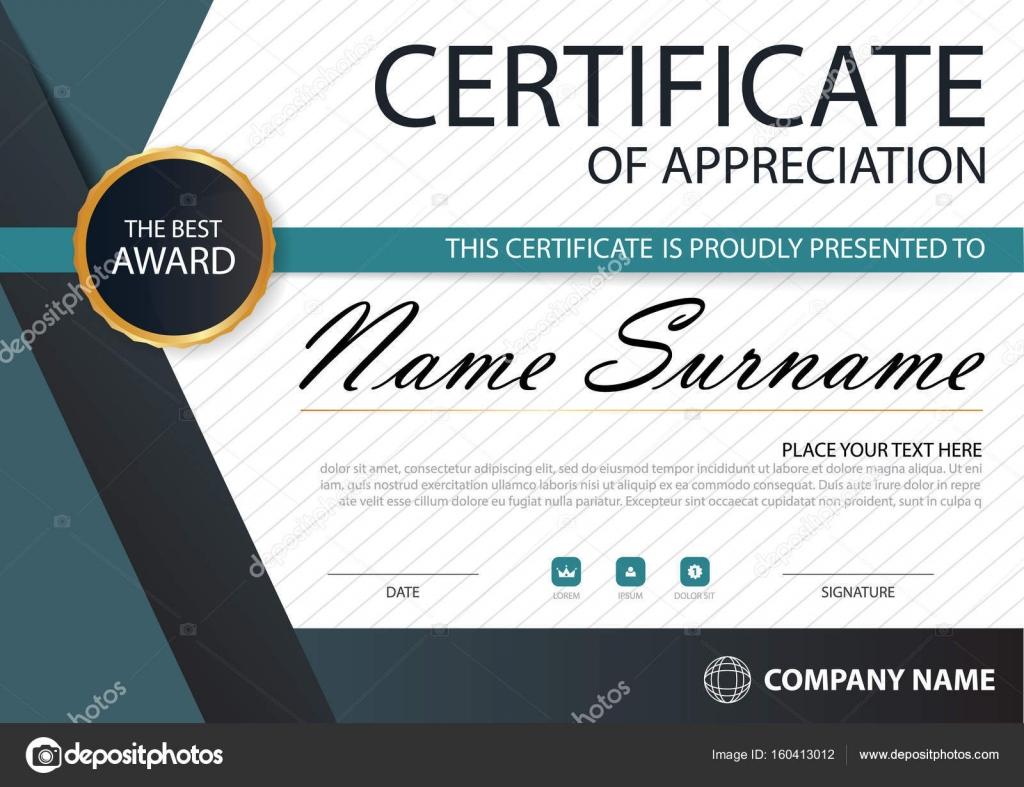 Blau-schwarze Eleganz horizontale Zertifikat mit Vektor Illustration ...