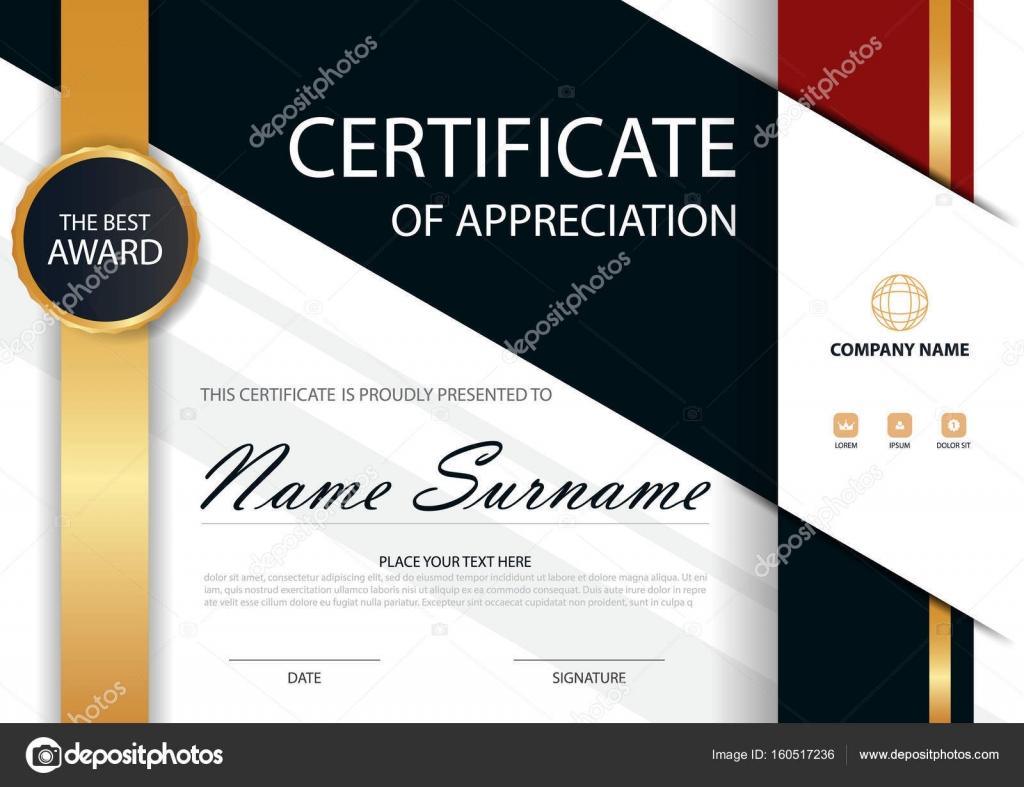 Horizontale Zertifikat in Gold Eleganz mit Vektor Illustration ...