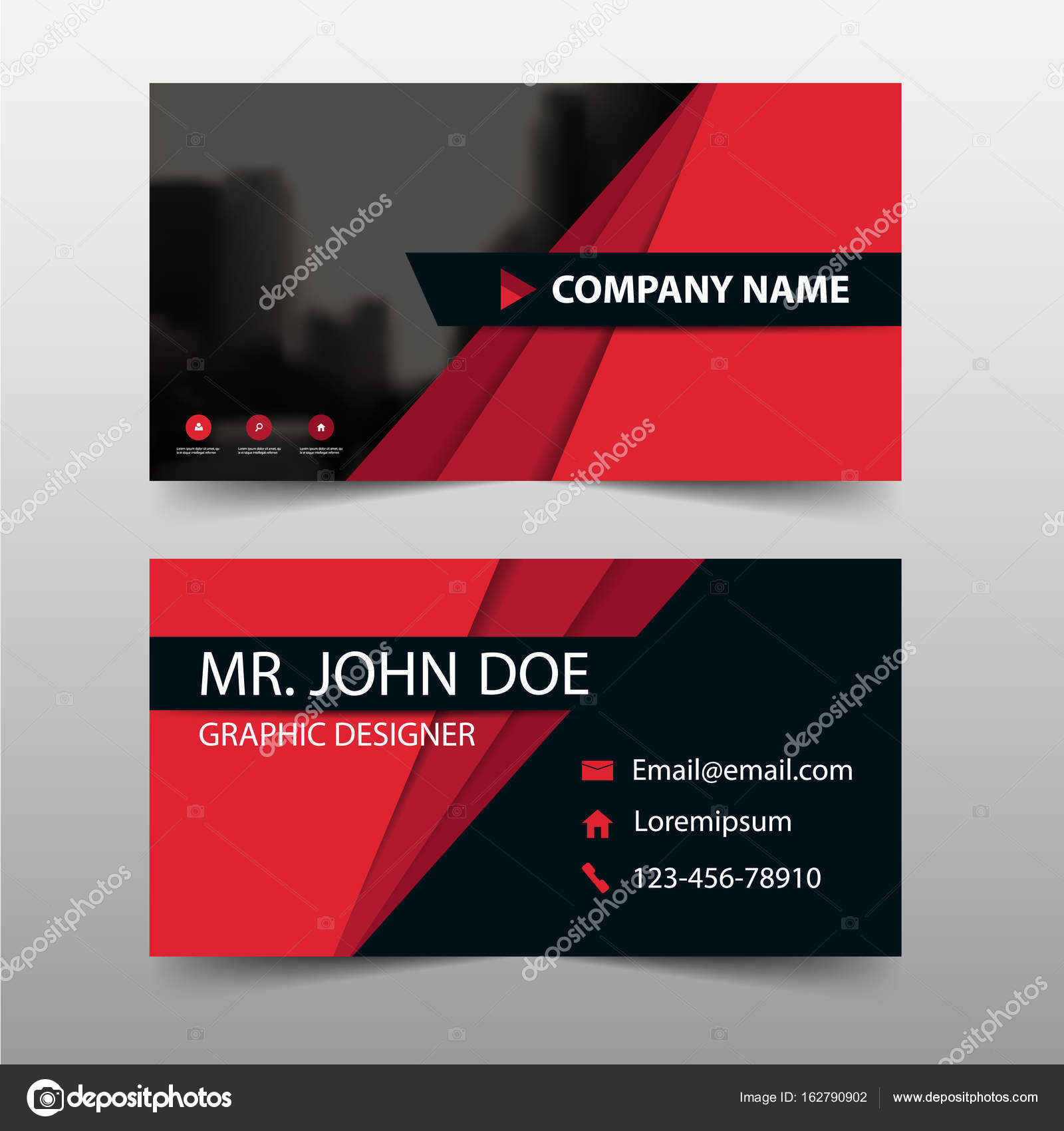 Corporate Business-Card, Karte Namensvorlage, horizontale einfaches ...