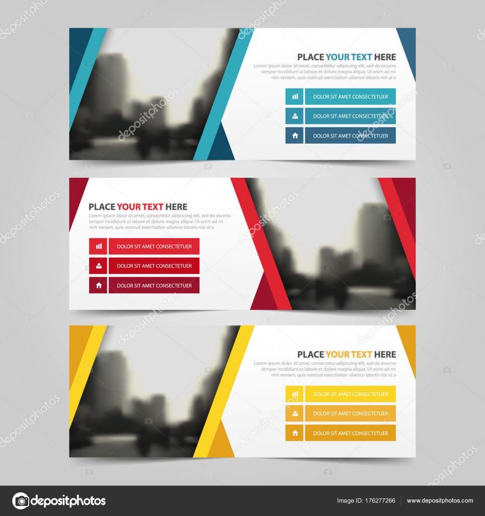 Firmenkundengeschäft Banner Vorlage, horizontale Werbedesign ...