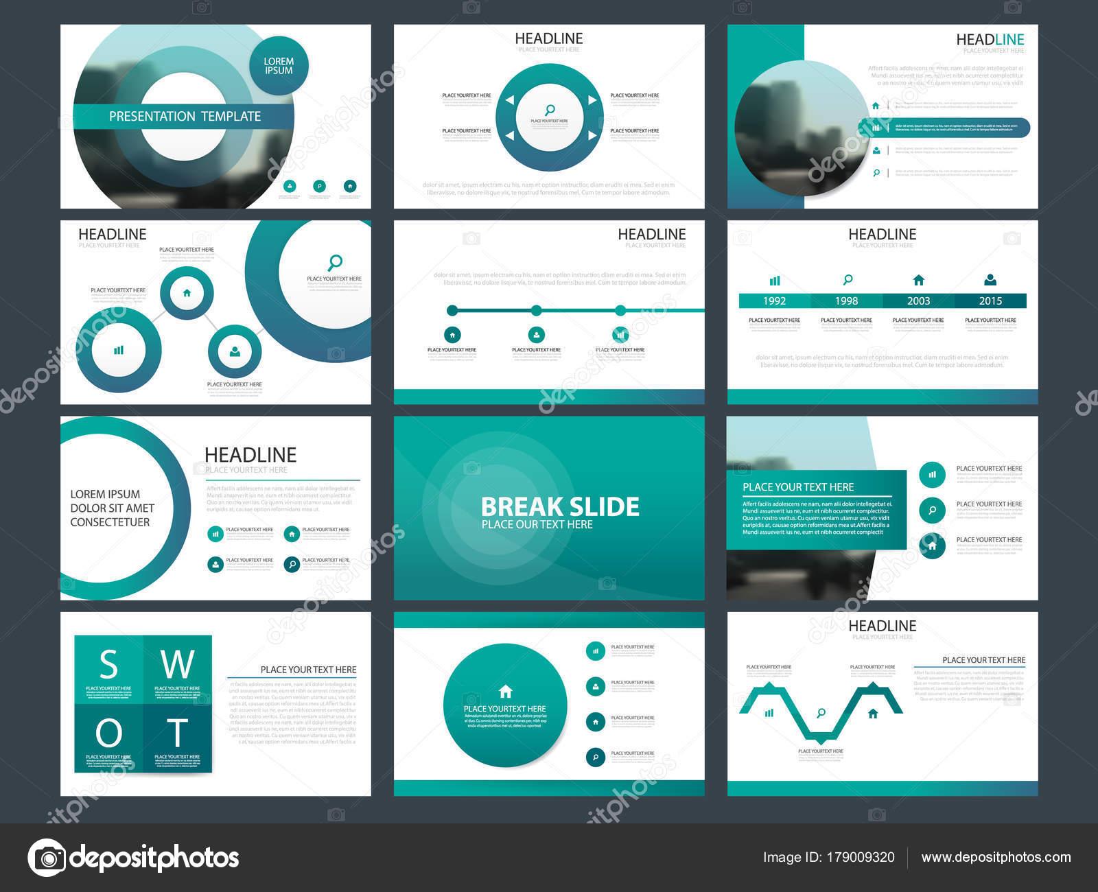 Blaue Abstrakte Präsentationsvorlagen Infografik Elemente Vorlage ...