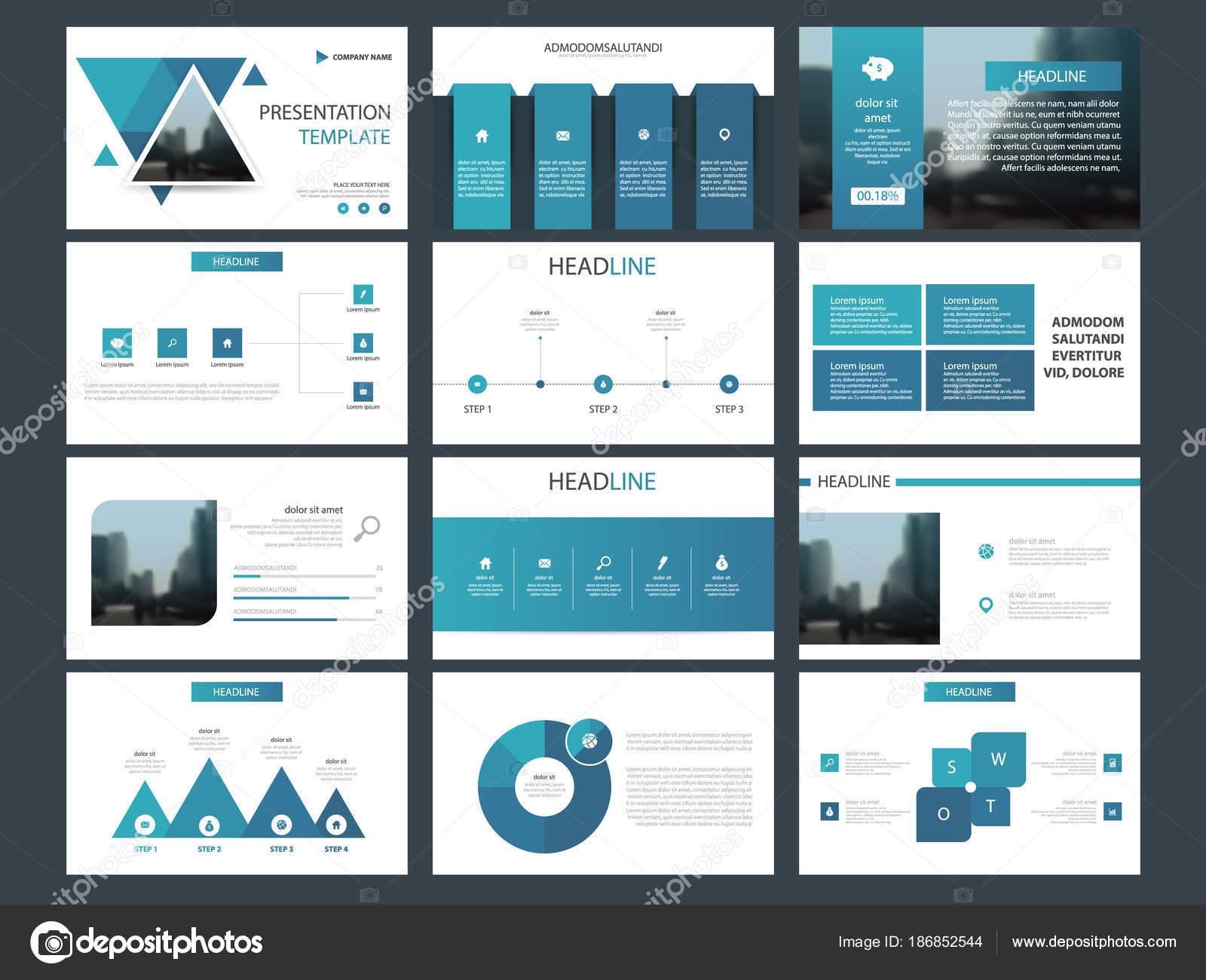 Plantilla Presentación Elementos Infografía Paquete Informe Anual ...