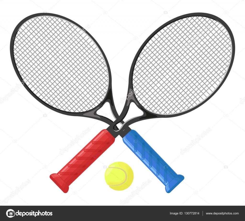 Tenis pelota stock de ilustracion ilustracion libre de stock de - Dos Raquetas De Tenis Y Pelota De Tenis Aislado Sobre Fondo Blanco Ilustraci N De Vector
