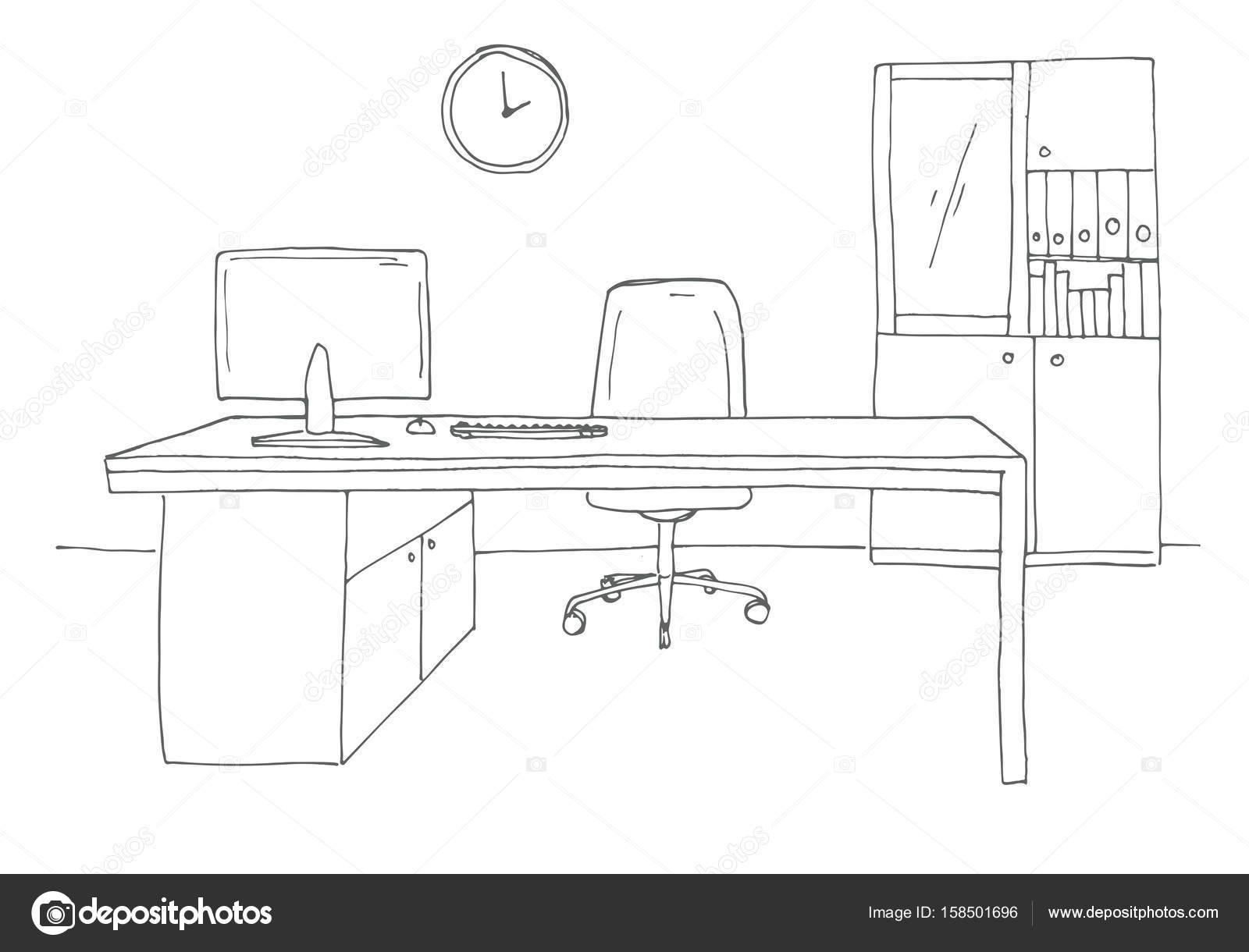 Ufficio in uno stile di schizzo mobili per ufficio for Stock mobili ufficio