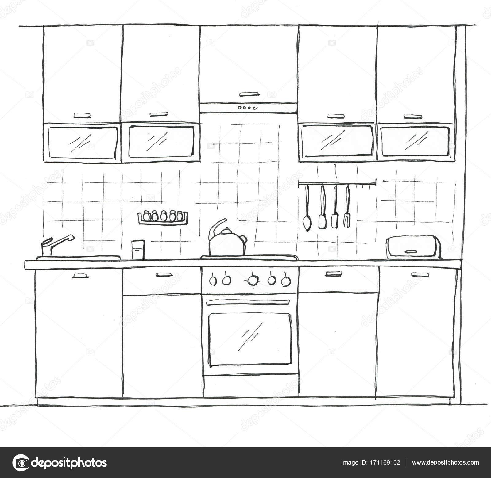 Immagini: cucina disegnata | Mobili cucina disegnata a mano ...