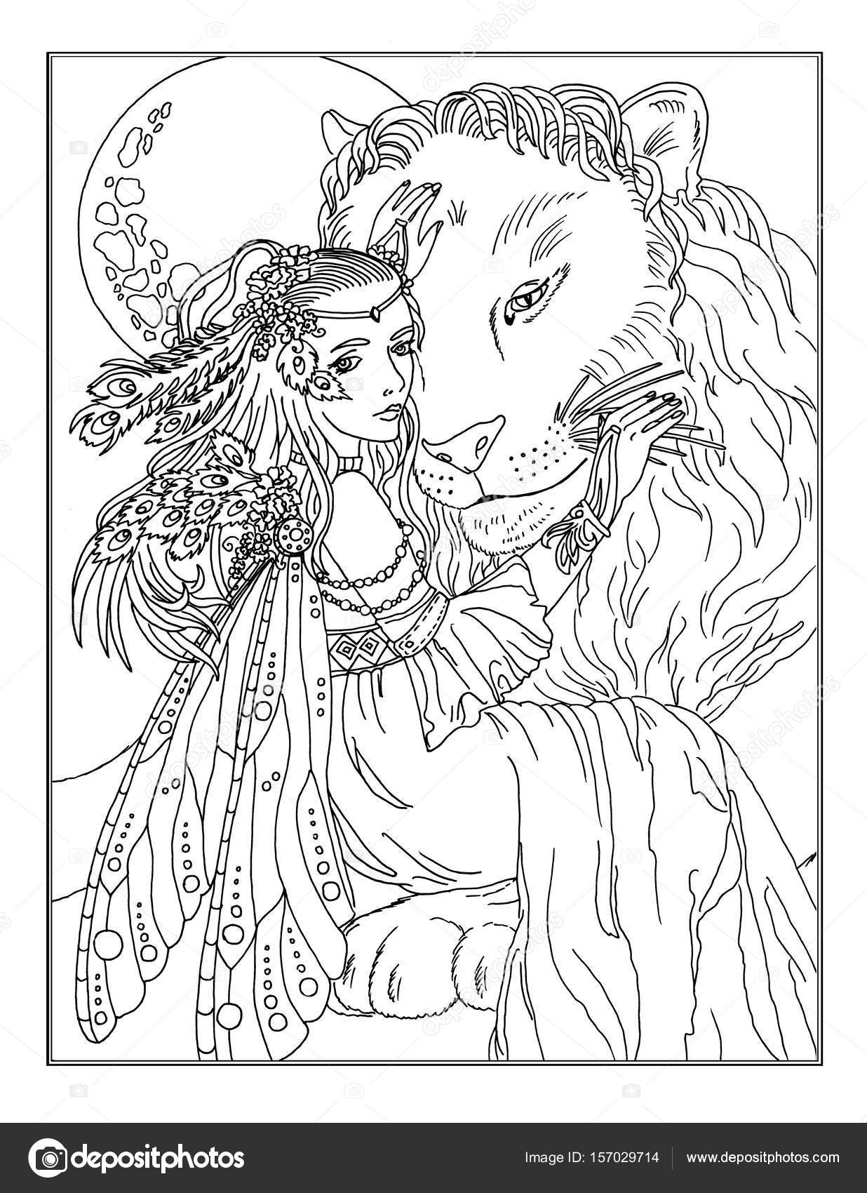 Boyama Sayfası Peri Stok Foto Larisakuzovkova 157029714