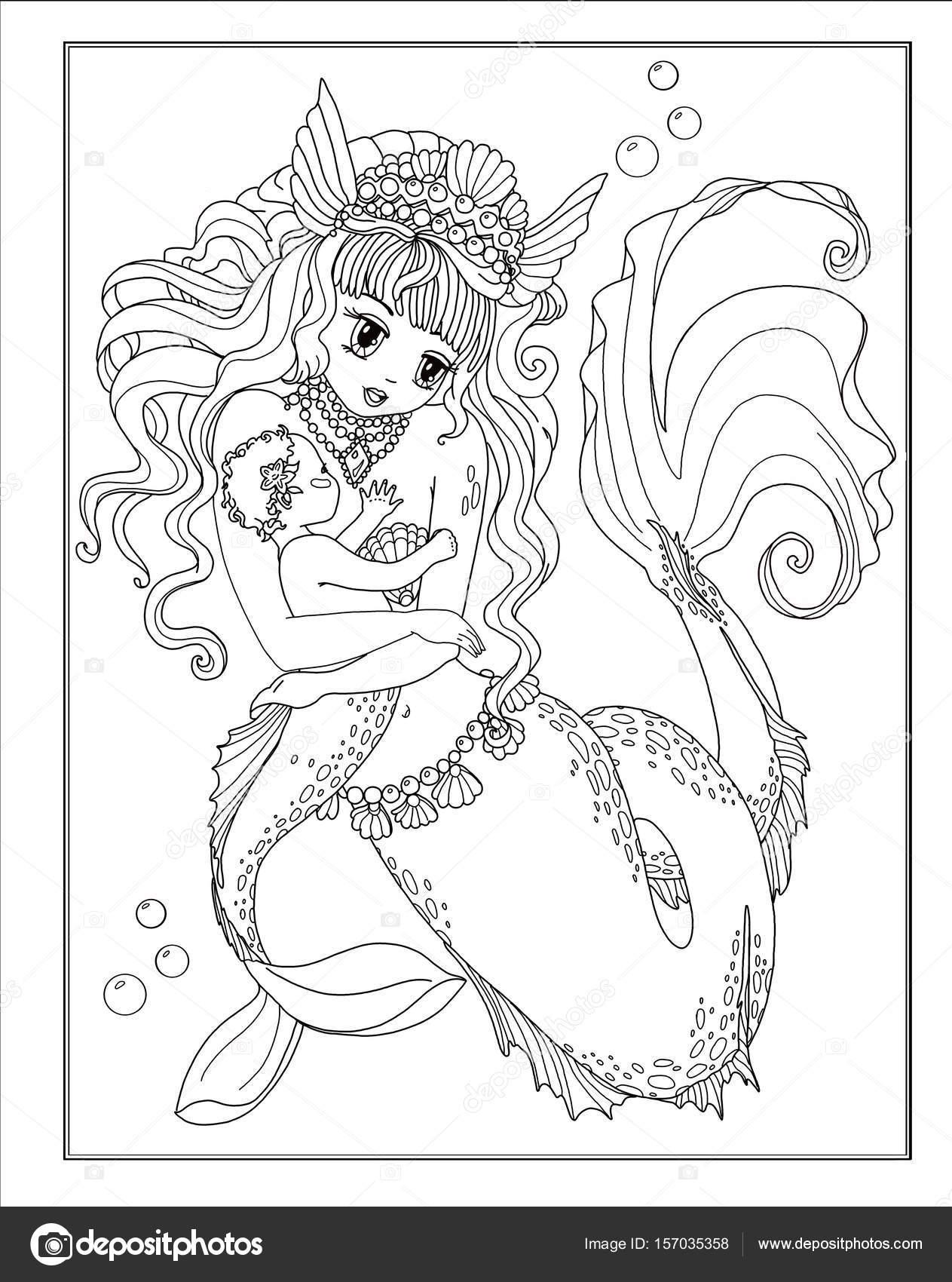 Elegant Ausmalbilder Feen Und Meerjungfrauen - Art von Malvorlagen