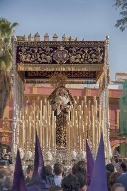 Holy Week in Seville, Virgin of the victory of the brotherhood of the tobacco companie