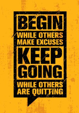 banner of motivation quote