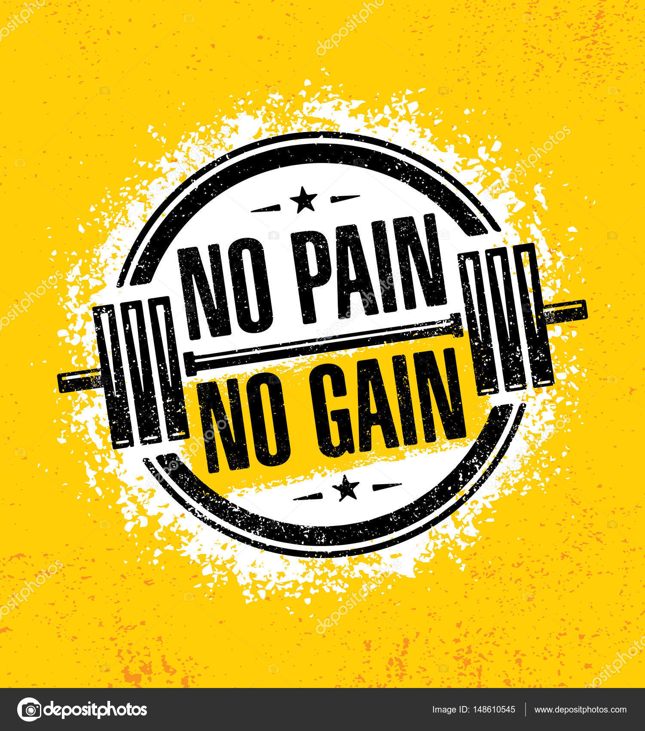 Wallpapers No Pain No Gain No Pain No Gain Stock Vector C Wow
