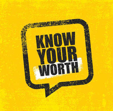 Know Your Worth. Strong Inspiring Creative Motivation Quote Poster Template. Vector Typography Banner Design Concept On Grunge Texture Rough Background