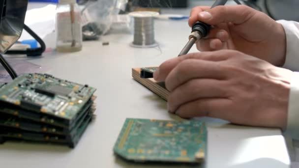 Process manual manufacturing modern green circuit board in electronics  industry