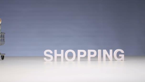 Peněžní výdaje na nákupy v obchodě. Utrácet peníze za nákupy v obchodě