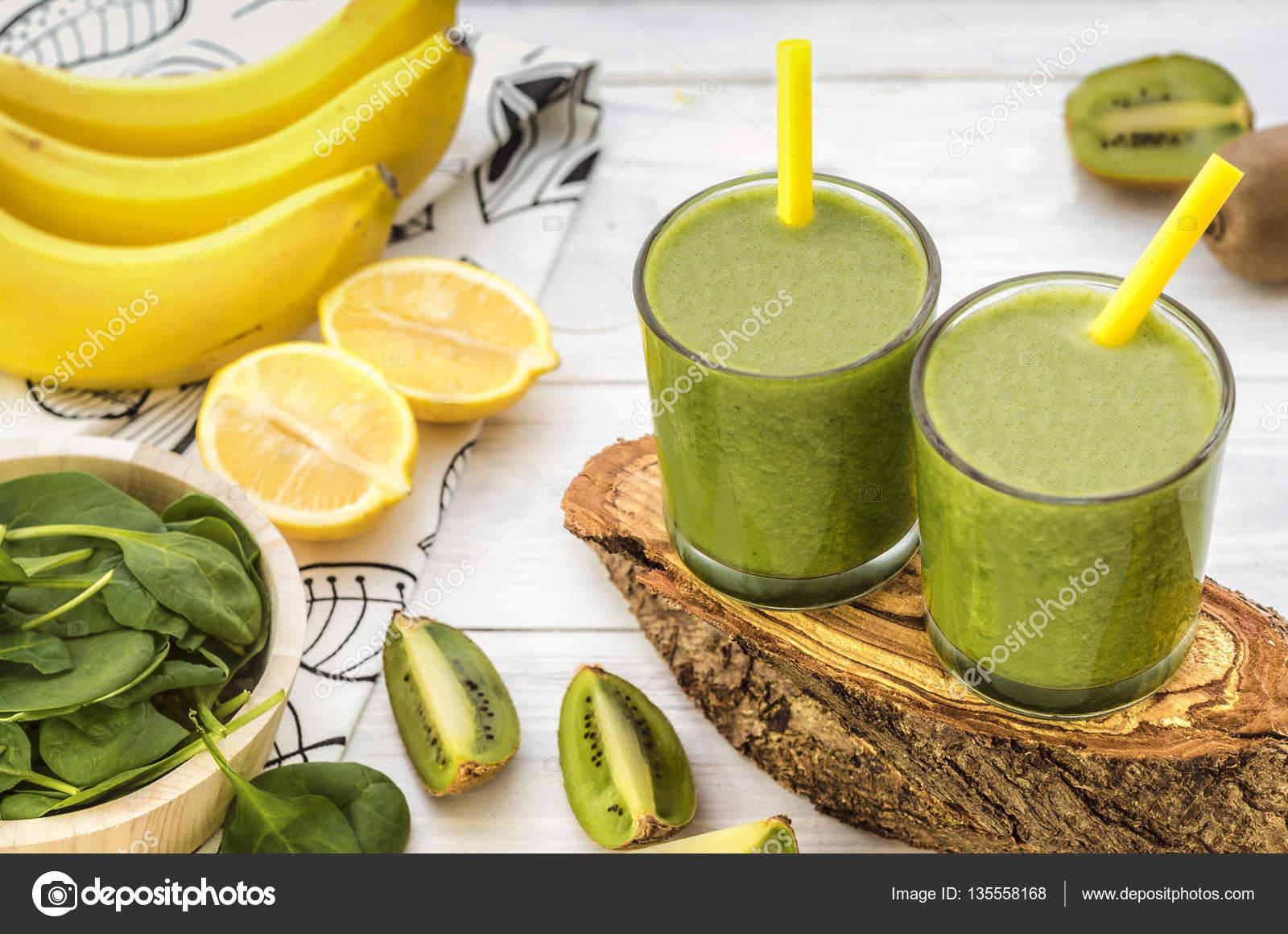 spenat kiwi smoothie