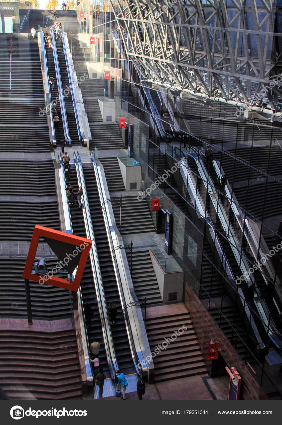 Moving Stairs Railway Station Kyoto Japan Travel Japan U2014 Stock Photo
