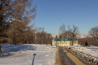 2019.02.19, Moscow, Russia. The palace pavilion of 1825 in Kolomenskoye is the only part of the lost palace of Emperor Alexander I that has been preserved on the territory of the museum-reserve.
