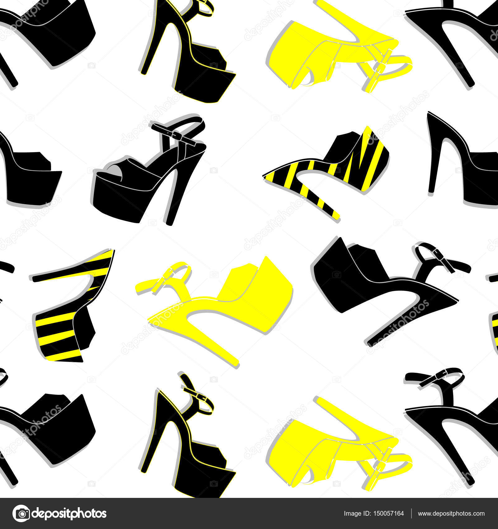 0ce8b2f98857 Vector pole dance sexy shoes. High heels pattern for striptease ...