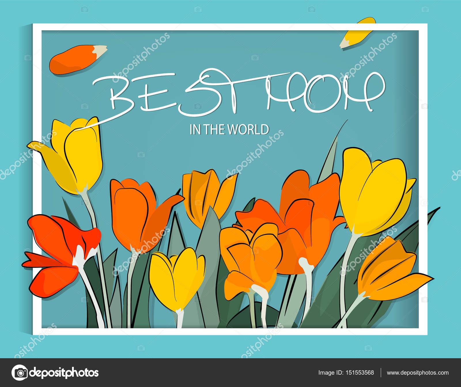 Cartão De Feliz Dia Das Mães Vetor Arte Flor Cartaz Da