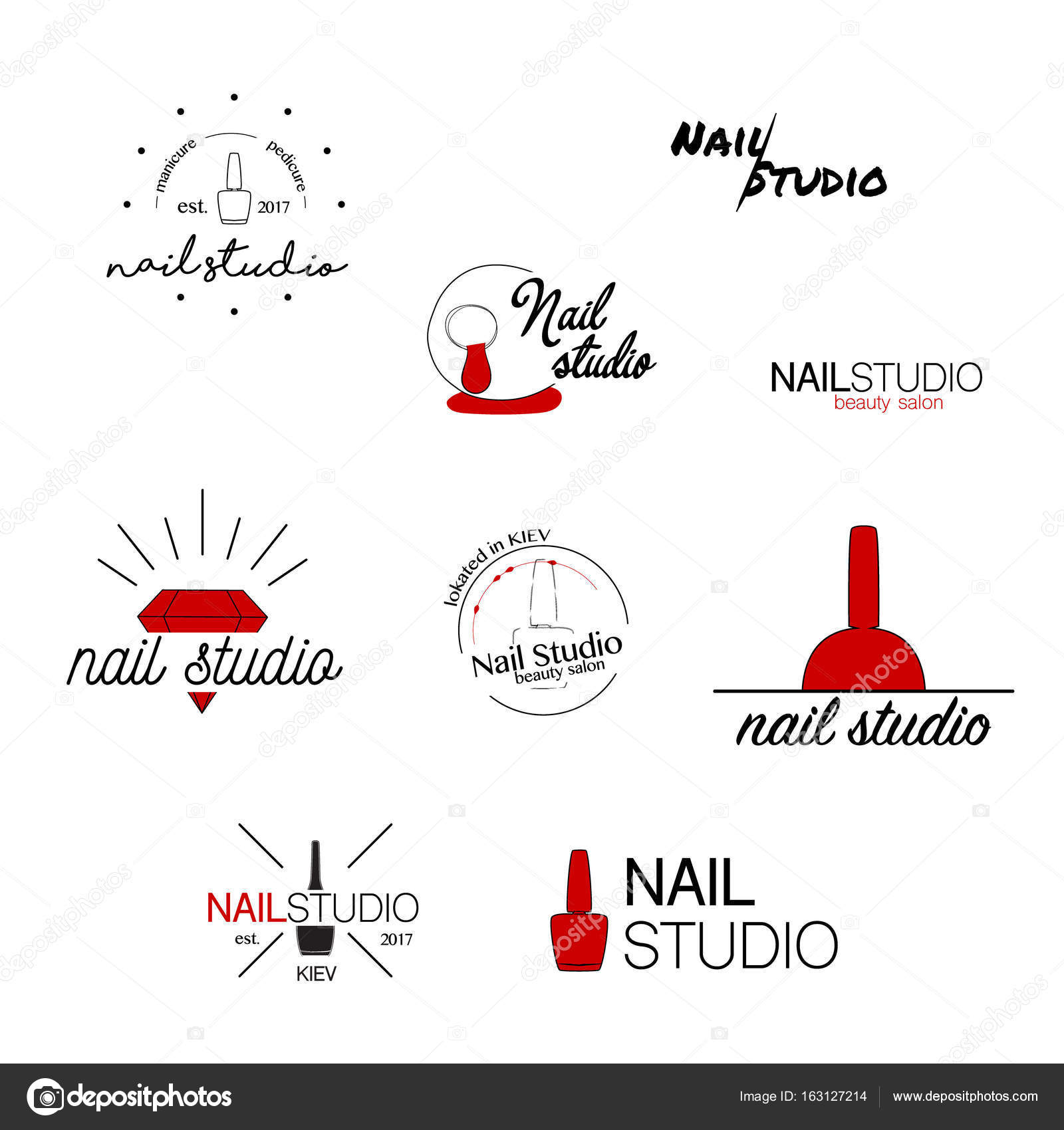 Nail studio vector icon beauty labels greeting cards nail studio vector icon beauty labels greeting cards illustration logo design typography decoration company card style identity logotype emblem ccuart Images