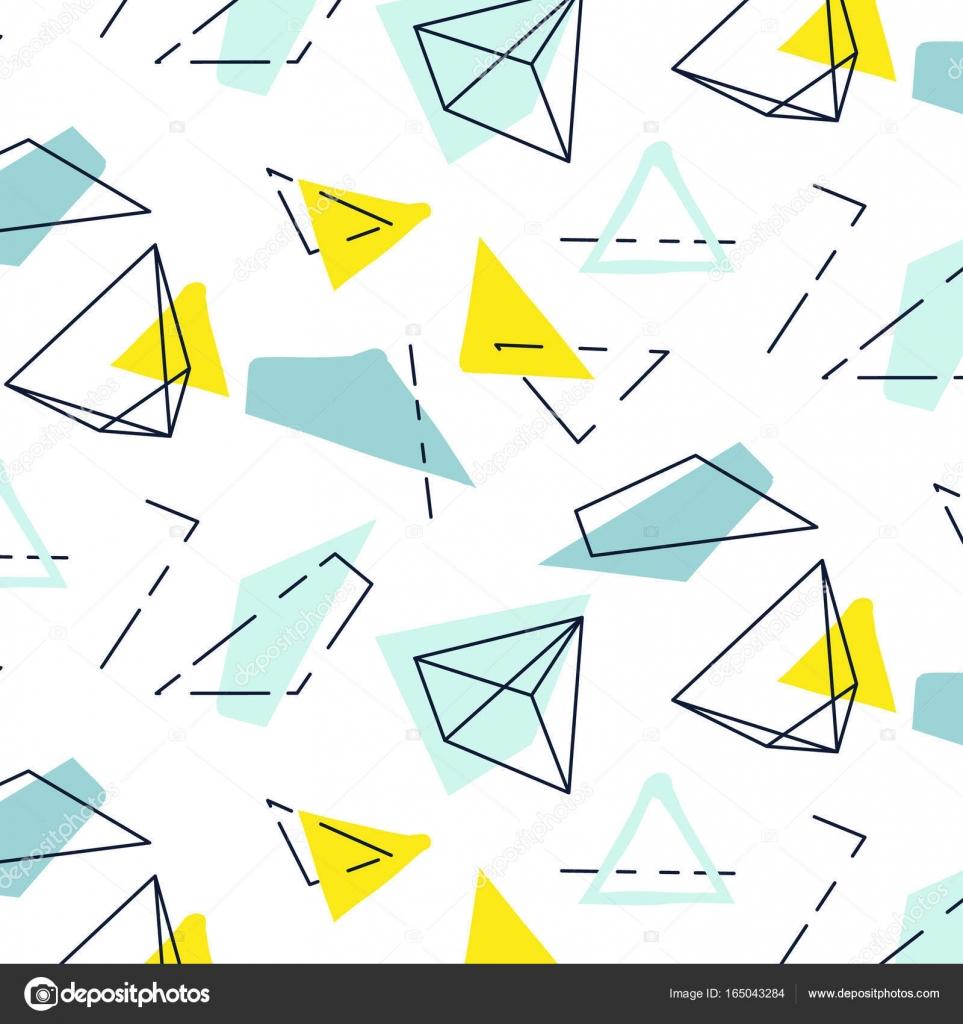 Kid Stilvolle Moderne Einrichtung Mit Dreiecke Und Linien. Wiederholen Sie  Mosaik Kunst Abdeckung, Kind Mint Pastell Print. Bio Kreuz Gezeichnet Ditsy  ...