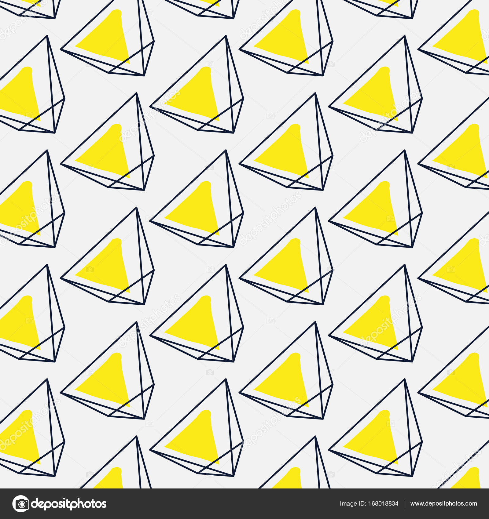 vector abstract simple geometric signs yellow black graphic