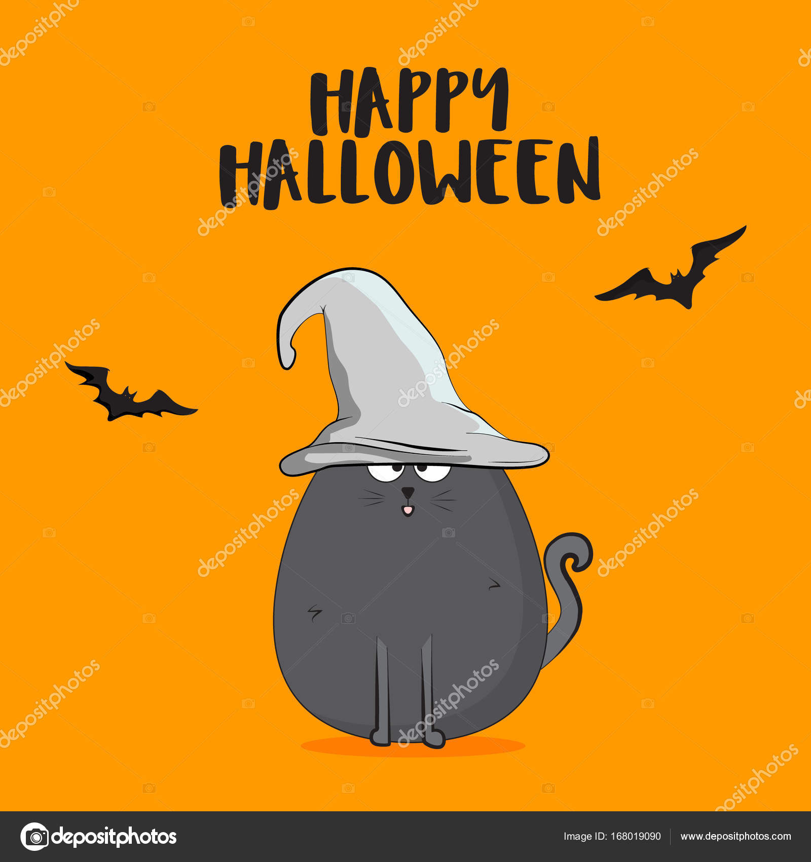 Vector Halloween Autumn Illustration. Vector Scary Poster. Witch Horror  October Holiday Greeting Card.