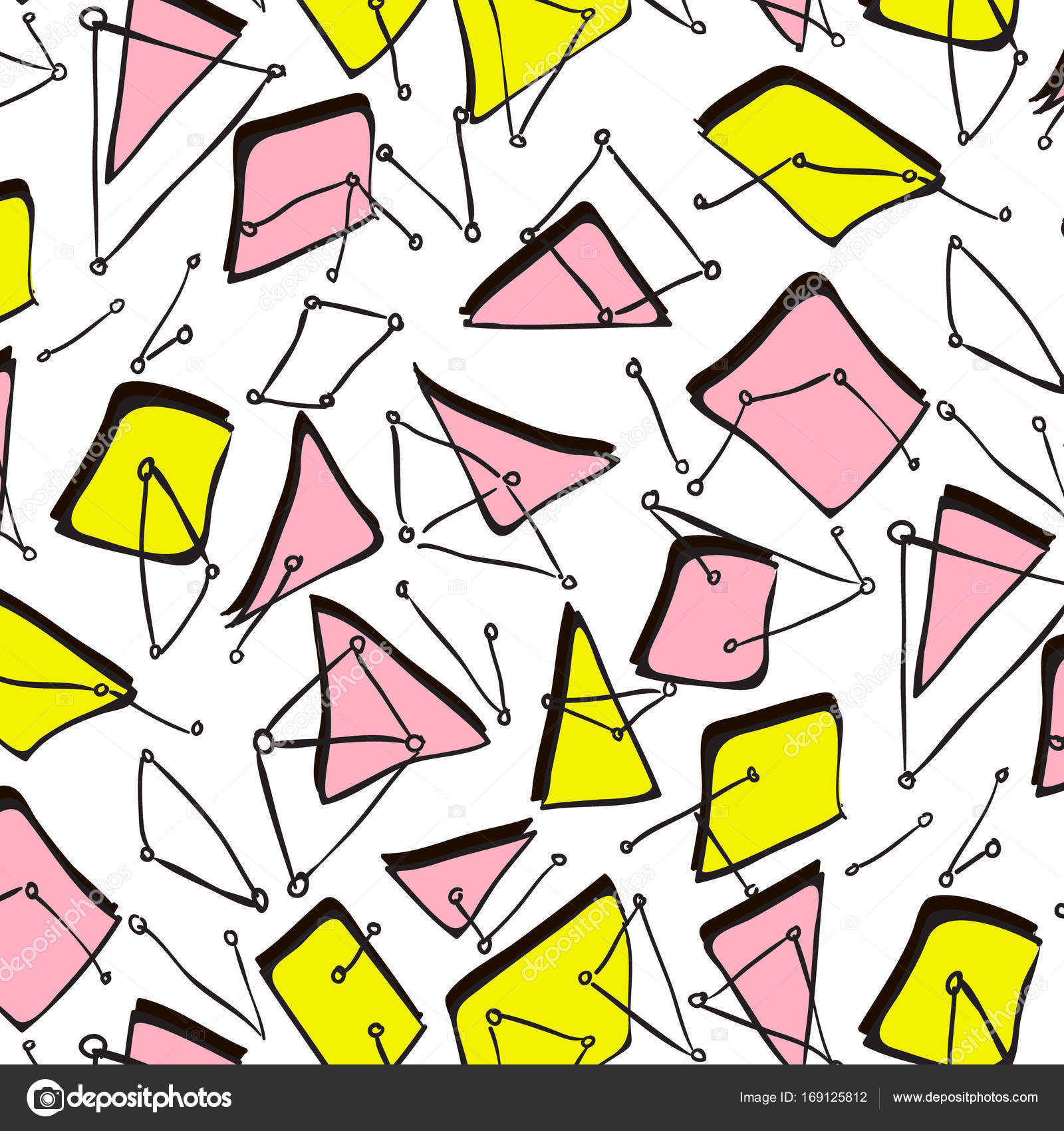 Geometric pattern memphis style  Vector illustration with