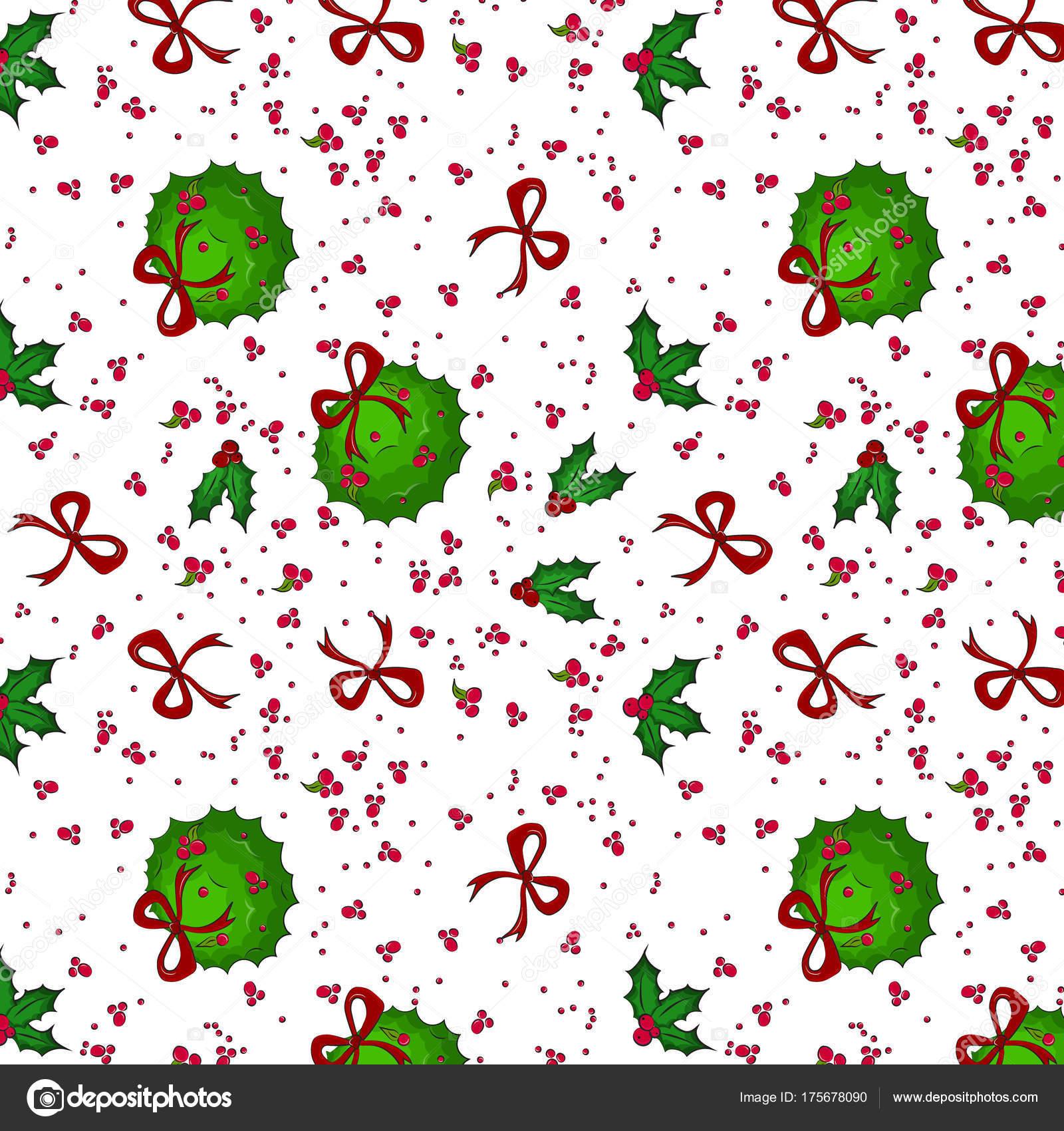 Vector Navidad evergreen besos bola decoración del árbol. Prado de ...