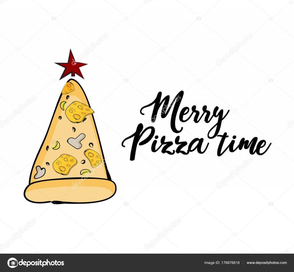 Vector tarjeta de felicitación divertida de Navidad con árbol de ...