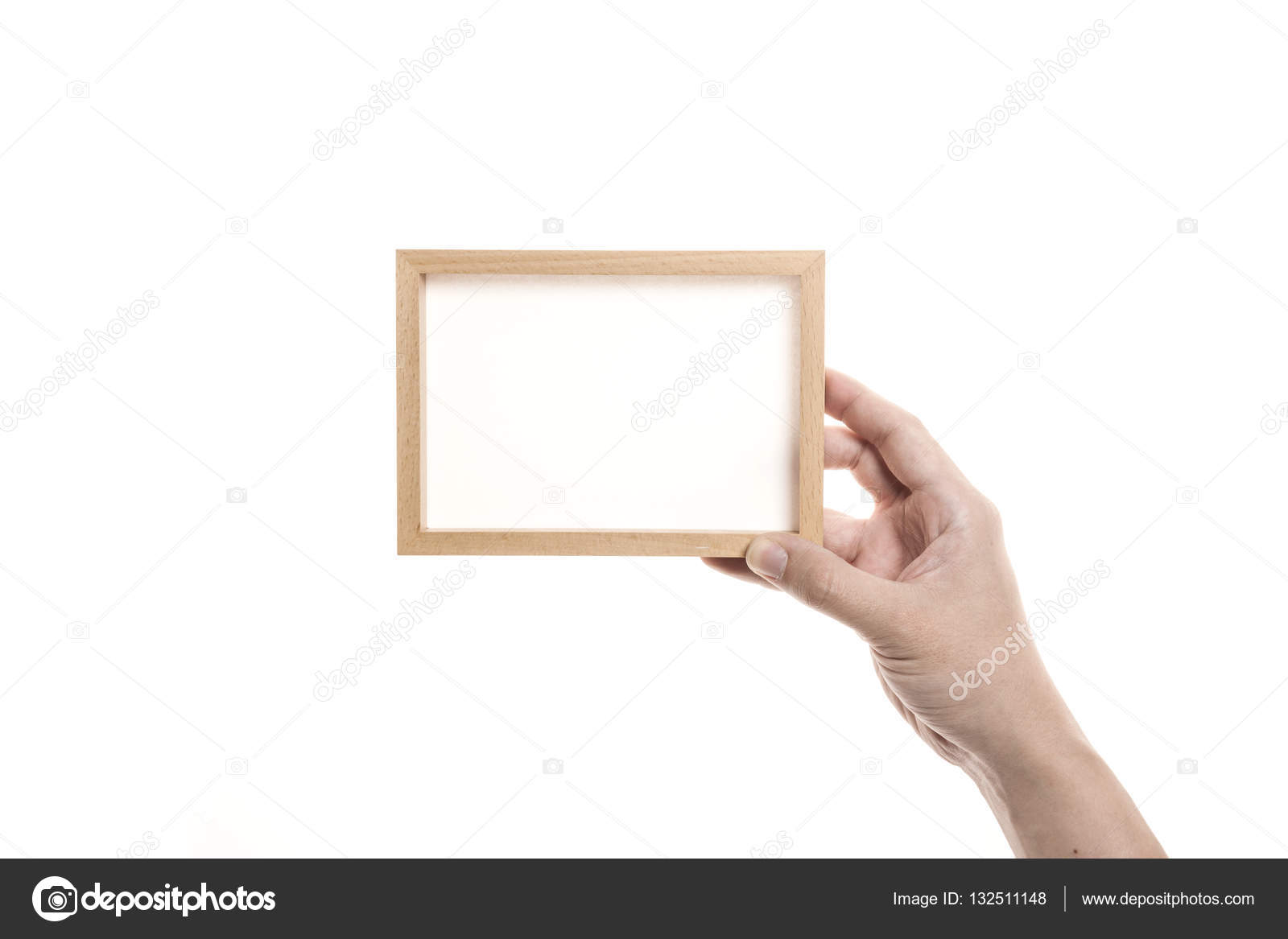 Hand Hold A Empty Photo Frame Stock Photo Earlyspring 132511148