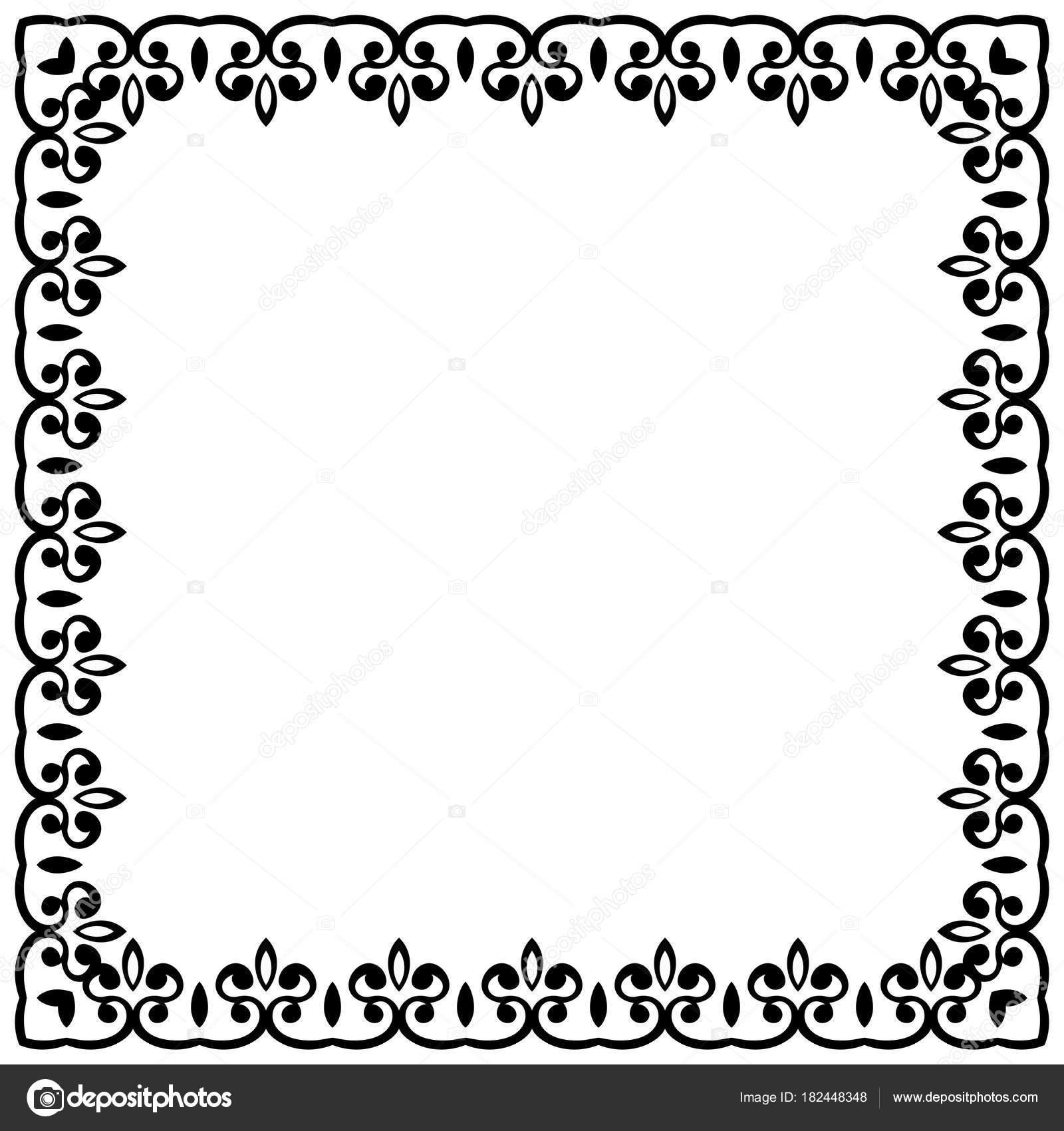 border vector vintage pattern decorative retro frame stock vector rh depositphotos com decorative border vector art decorative border vector free download