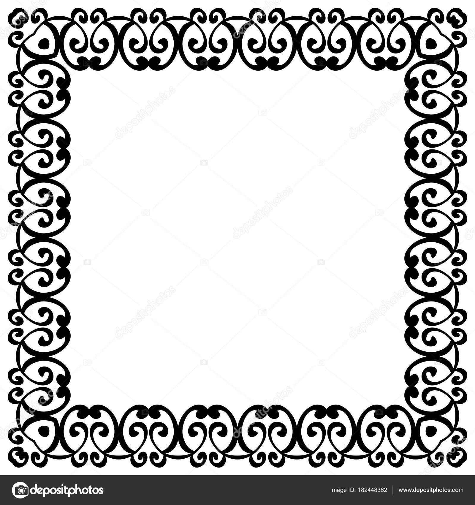 border vector vintage pattern decorative retro frame stock vector rh depositphotos com decorative border vector png decorative border vector brushes