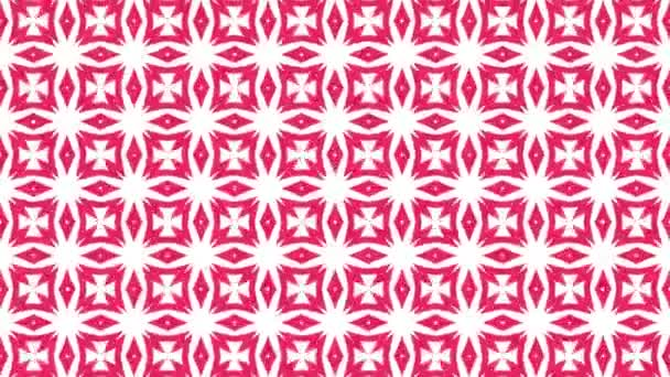Kaleidoscope sequence patterns. Abstract multicolored motion graphics background. Beautiful bright ornament. Seamless loop.