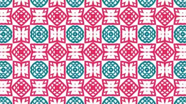 Kaleidoskop patternů sekvence. Abstraktní barevné pohybu grafiky pozadí. Krásné světlé ornament. Bezešvá smyčka