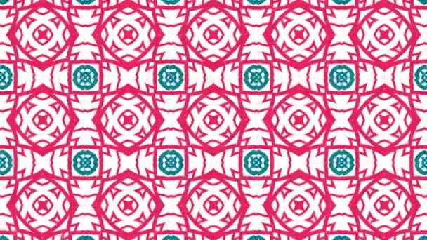 Kaleidoskop patternů sekvence. Abstraktní barevné pohybu grafiky pozadí. Krásné světlé ornament. Bezešvá smyčka.
