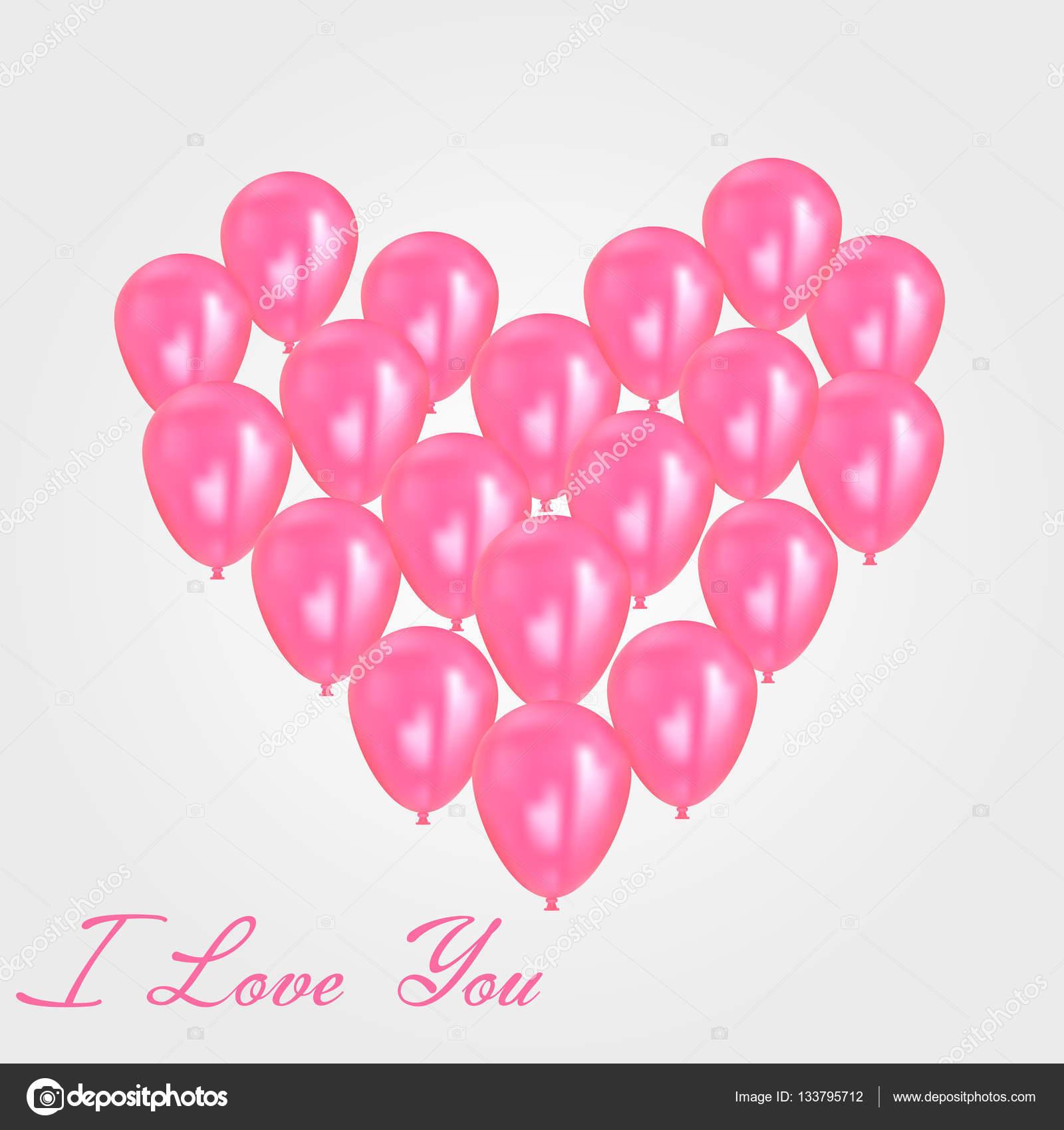 födelsedag meddelande Realistisk hjärtat födelsedag ballonger flyger. fest och firande  födelsedag meddelande